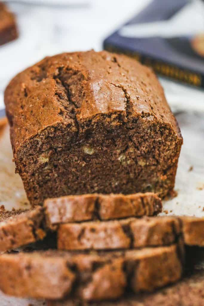 Vegan Banana Bread sliced