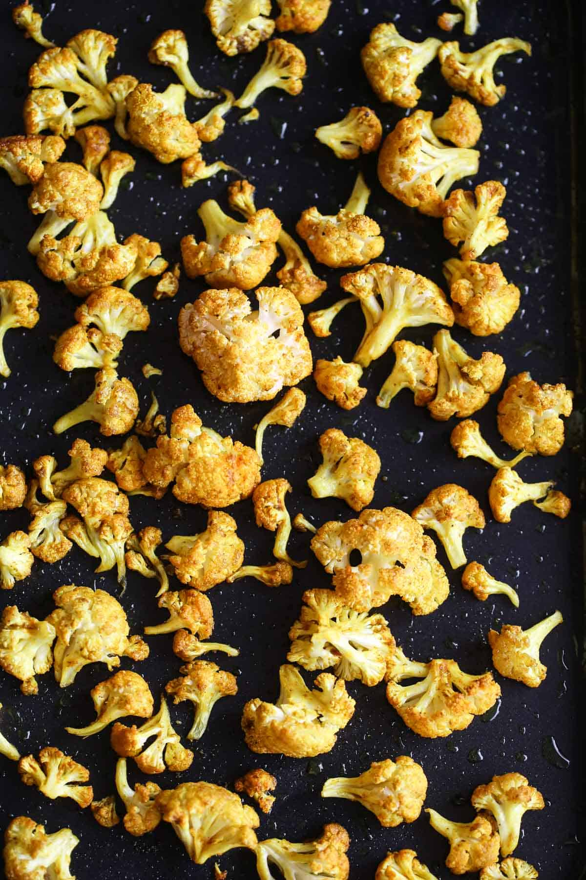 Roasted cauliflower florets for the soup
