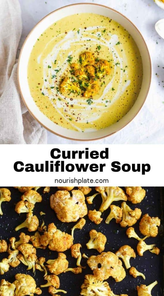Curried Cauliflower Soup pin 1