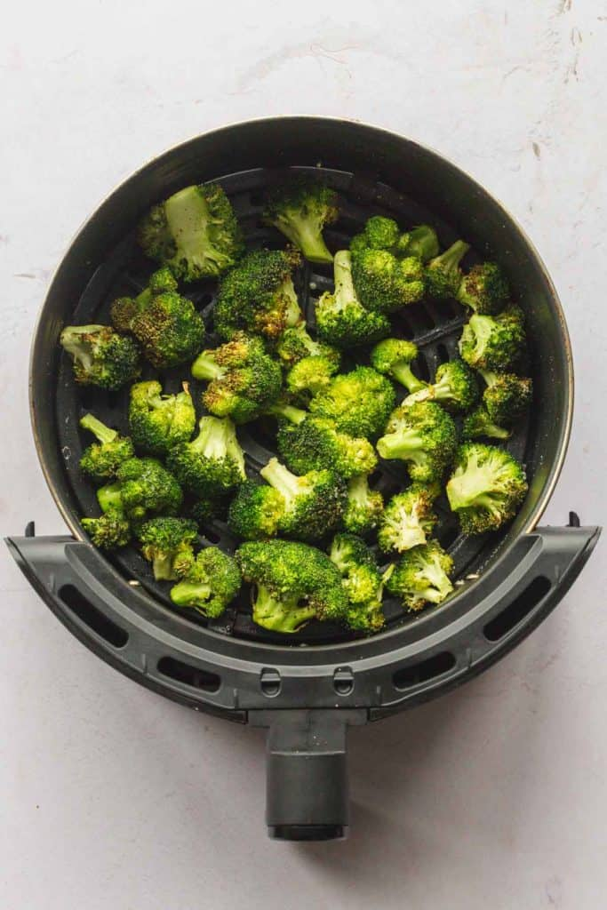 Broccoli cooked in the Air Fryer