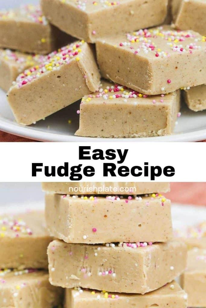 Easy Condensed Milk Fudge pinnable image