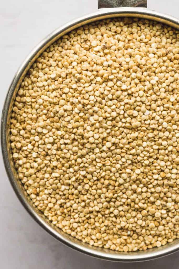 A close up of dried quinoa seeds