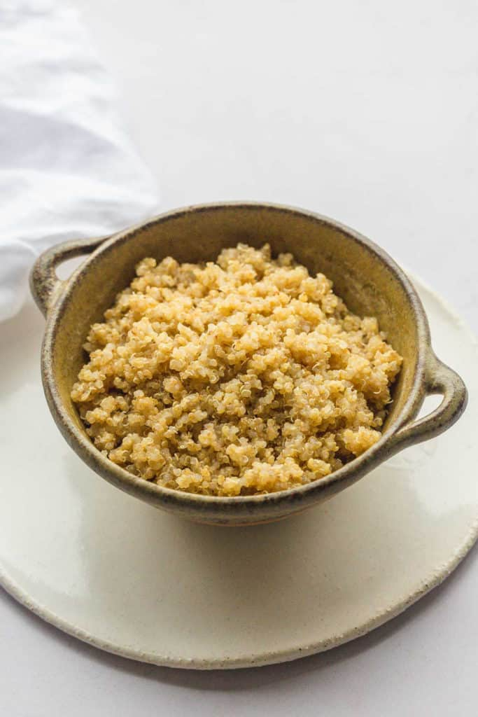 A bowl of fluffy quinoa
