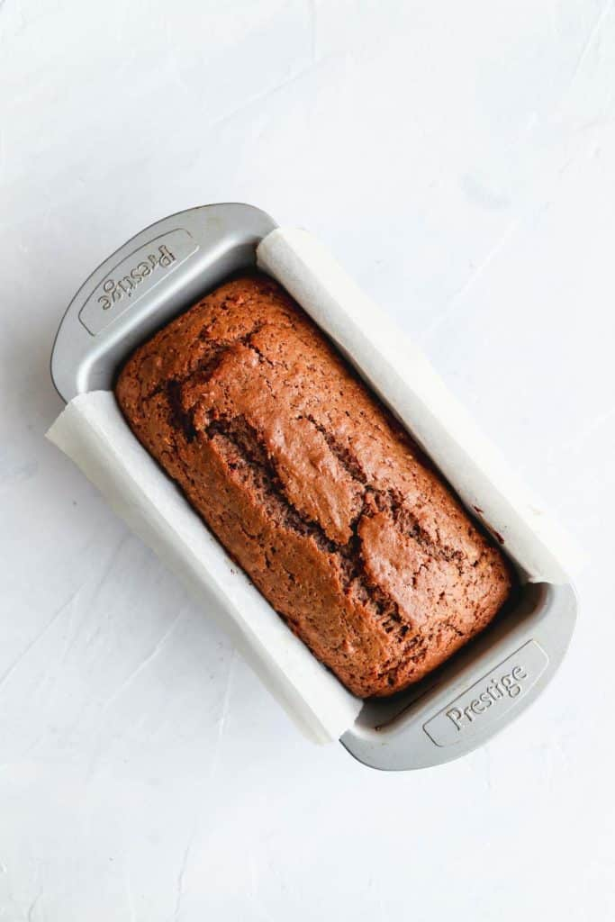 Baked vegan chocolate banana bread