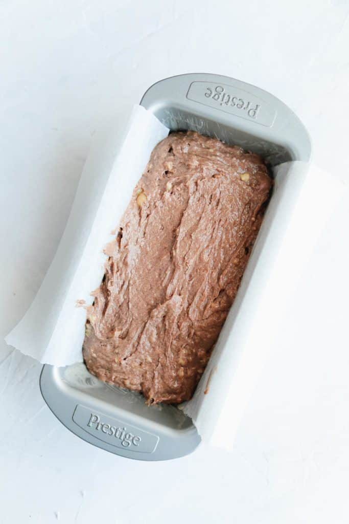 Vegan banana bread batter