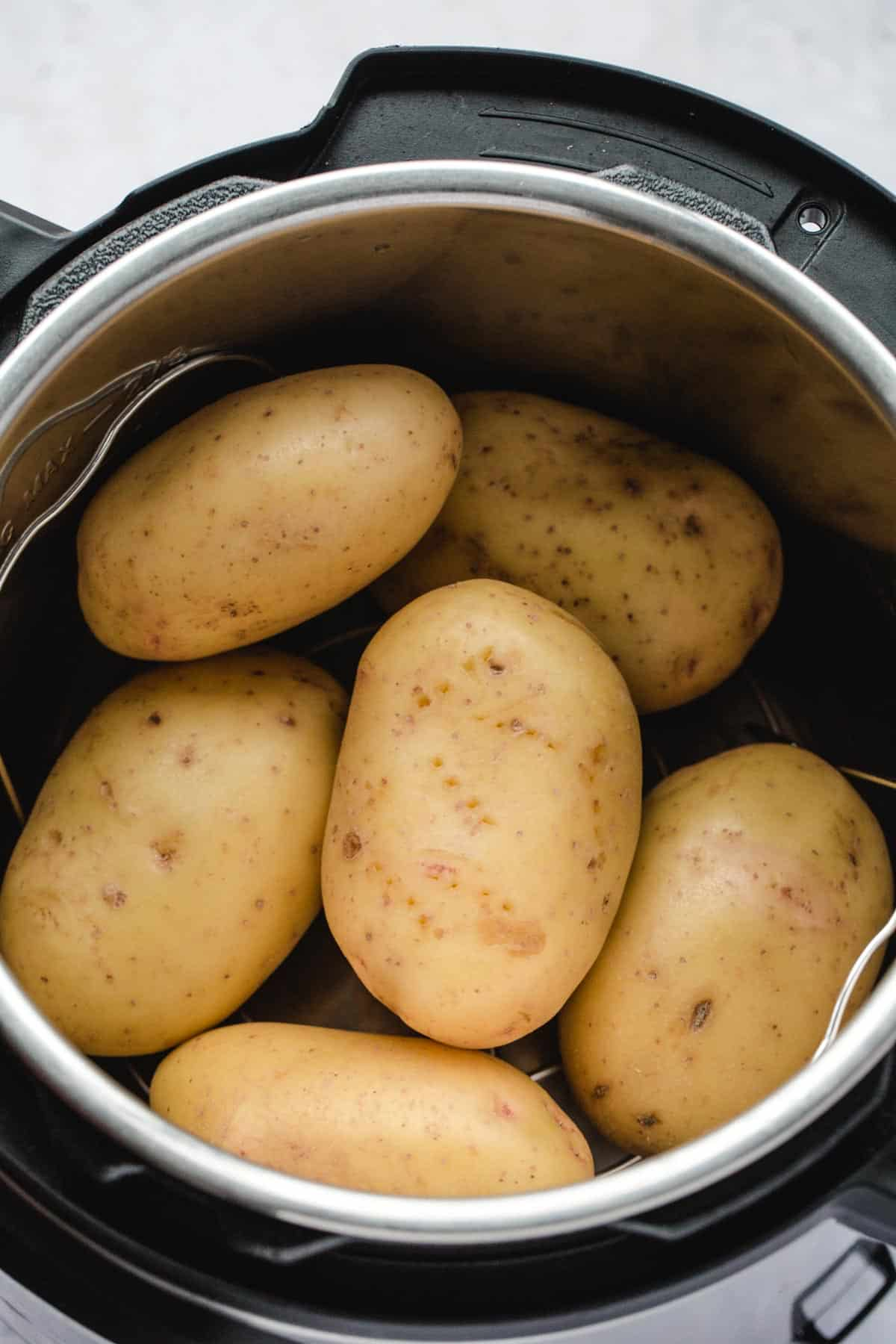 Pricked potatoes in the Instant Pot