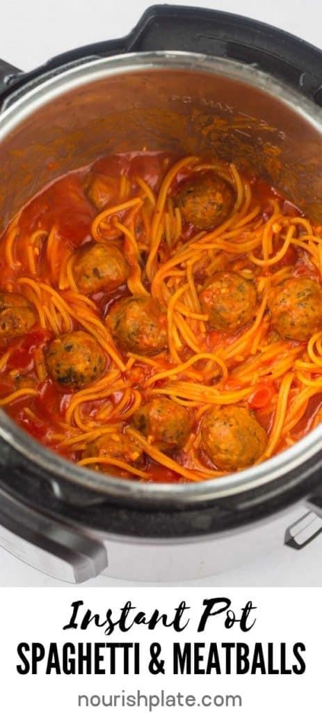 Instant Pot spaghetti meatballs