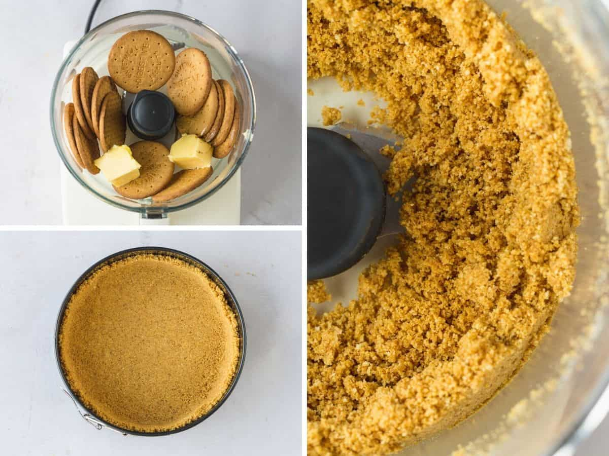Steps for making cheesecake