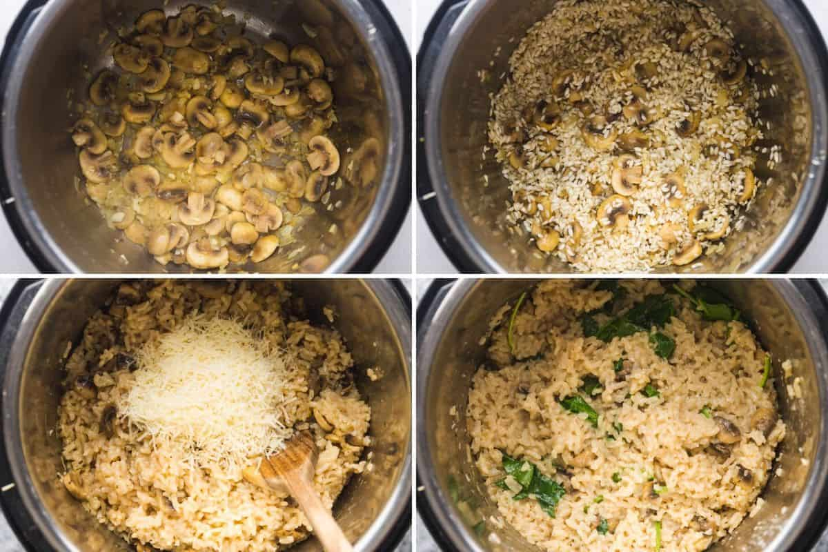 How to make risotto in the instant pot, 4 steps