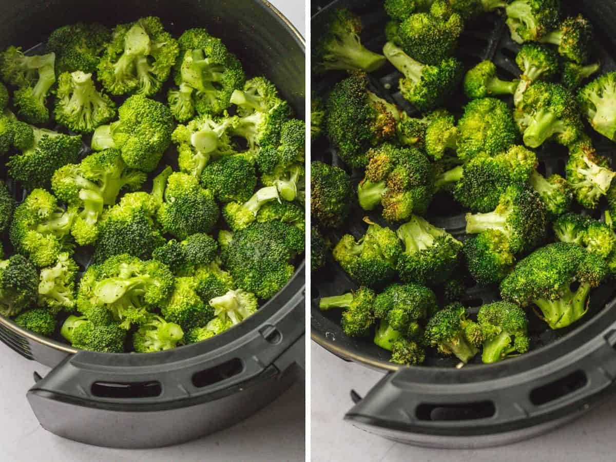 Steps on how to Air Fry broccoli
