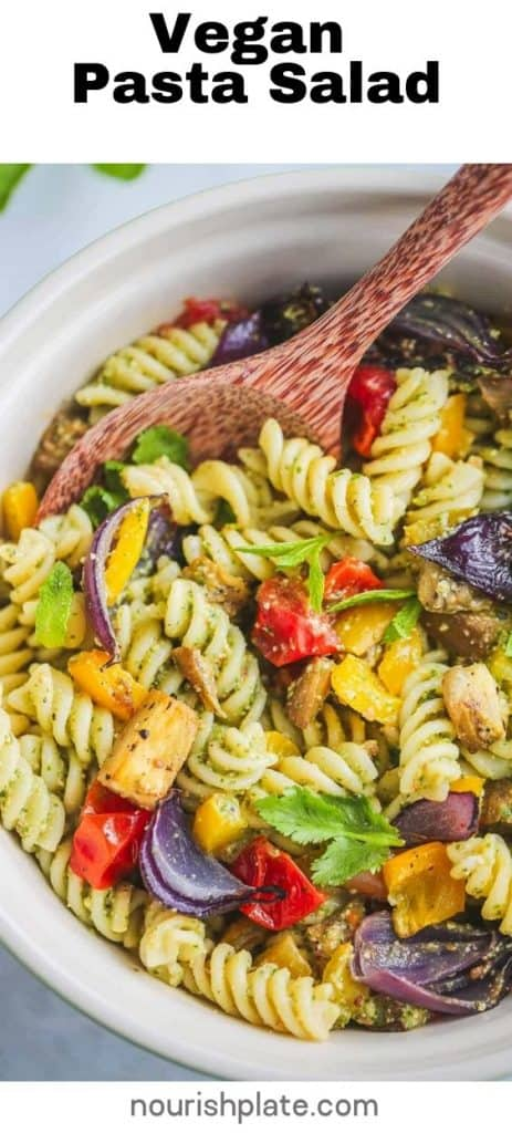 Vegan Pasta Salad - pin