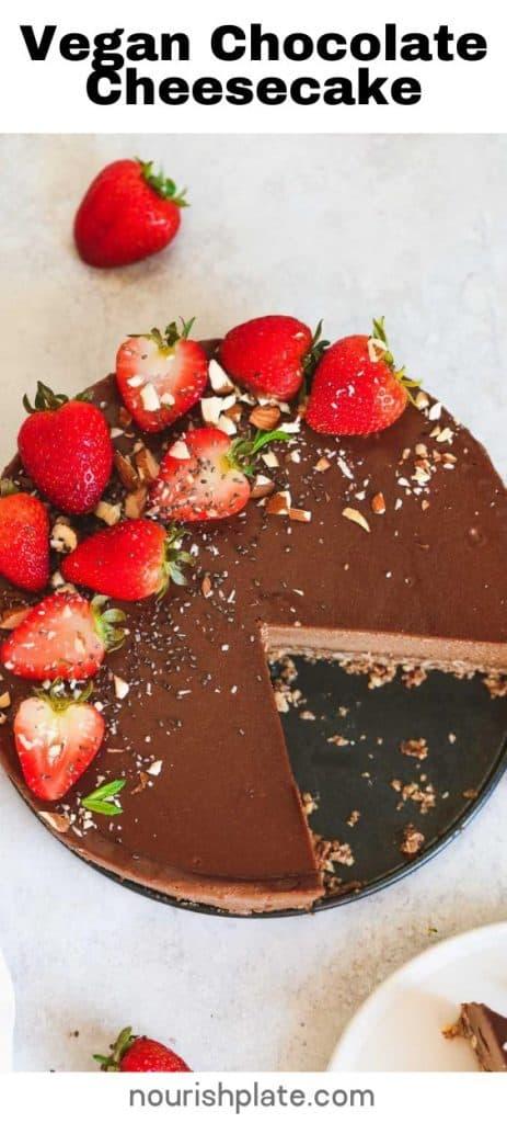 Vegan Chocolate Cheesecake - pin1