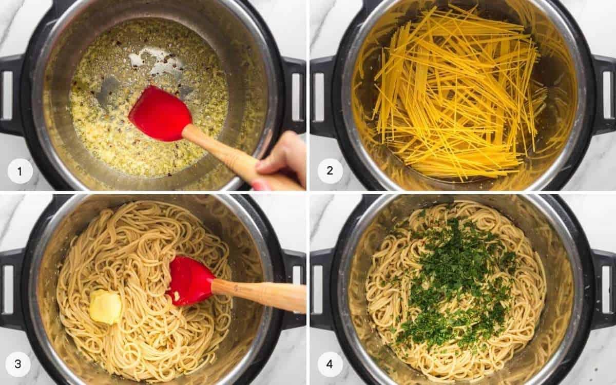 Steps how to make instant pot noodles
