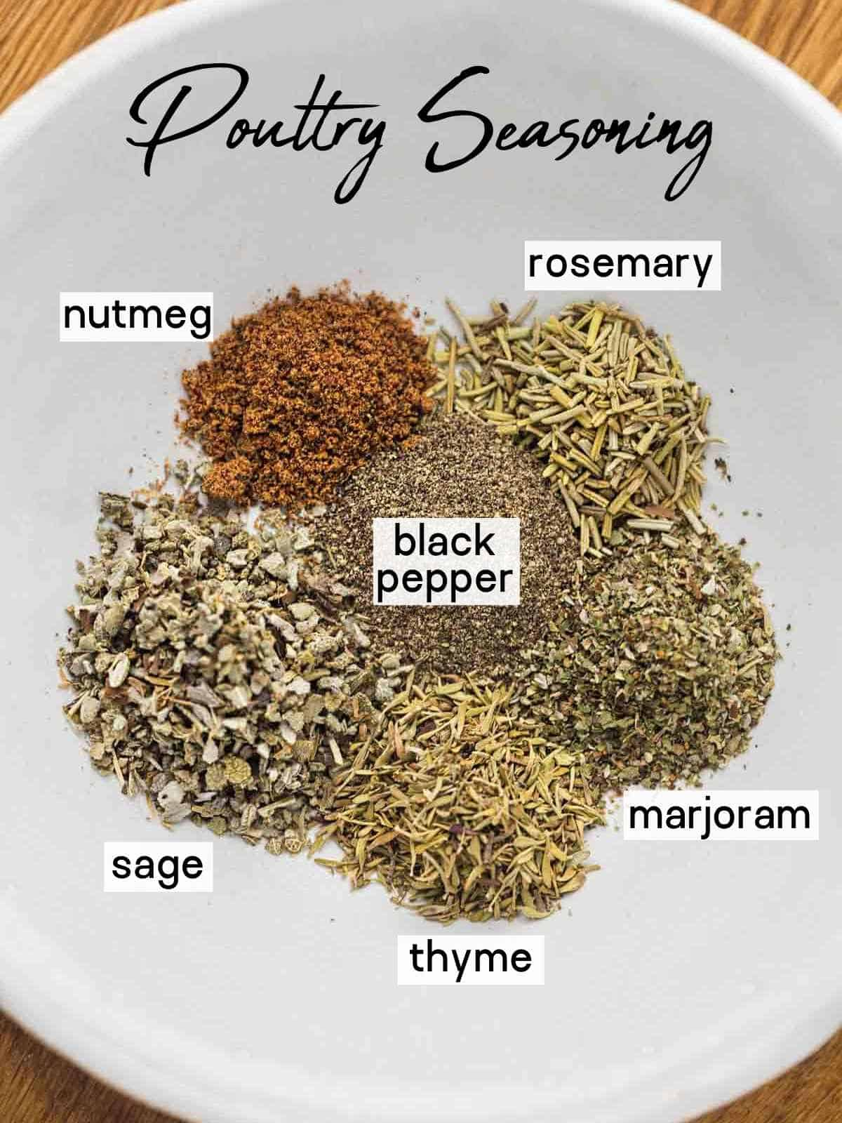 Poultry Seasoning ingredients