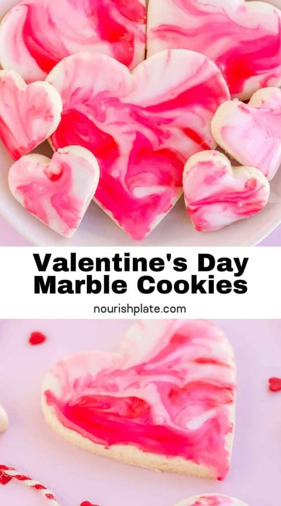 Valentine's Day Marble Cookies - pin1