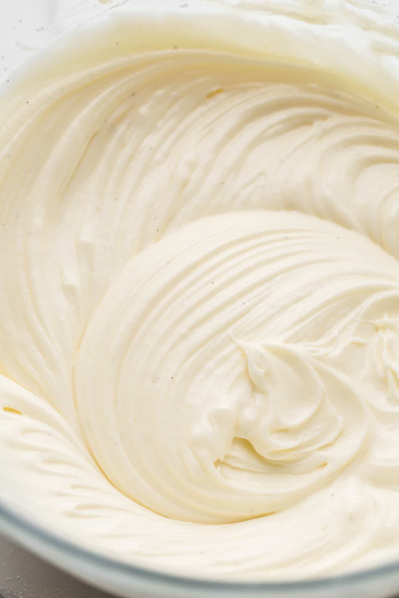 Cream cheese frosting with vanilla bean